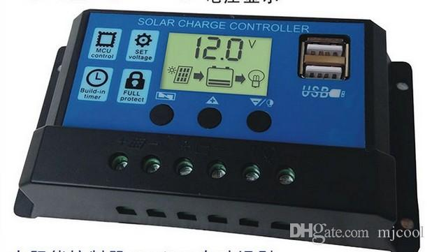Nieuwe Solar Controller 10A 20A 30A Solar Power System 12 V / 24 V Automatische Identificatie F01