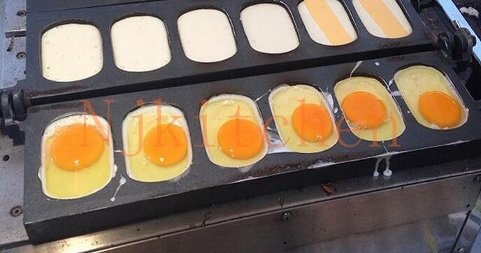 Livraison Gratuite Coréen Utilisation Commerciale Non-bâton 110v 220v Électrique Coréen Pain Aux Oeufs Machine À Fabriquer Baker Moule Plaque
