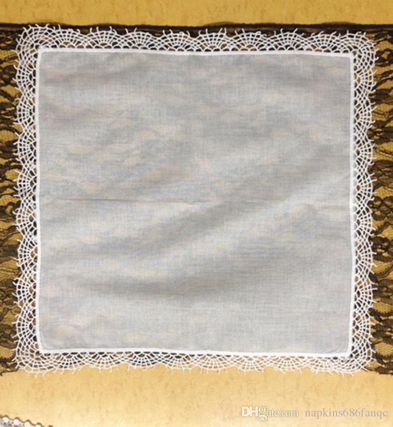 12 PCS Factory outlet A DOZEN ms scallop edge printing 100/%cotton handkerchief