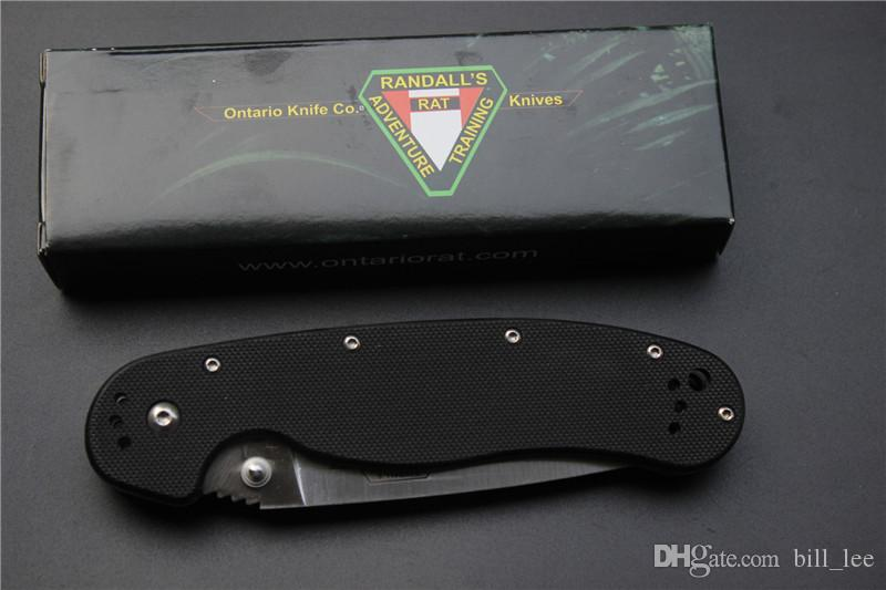 4 stylesTactical knife RAT Ontario folding knife,adventure training AUS-8 blade G10 Handle outdoor EDC pocket survival knives