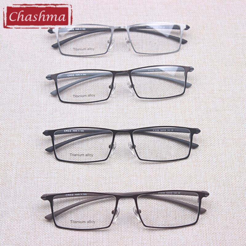 2067e93b3c76 2019 Wholesale Chashma Top Quality Made In Shenzhen Eyeglasses Pure  Titanium Men Myopia Glasses Frames Top Quality Eyeglasses From Juaner