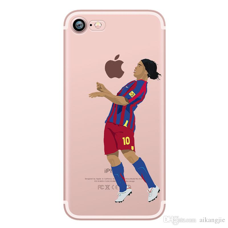 fashion transparent football stars cristiano ronaldo messi forfashion transparent football stars cristiano ronaldo messi for iphone 5 5s se 6s plus 7 phone case ultra slim silicone tpu phone cover mobile phone cases