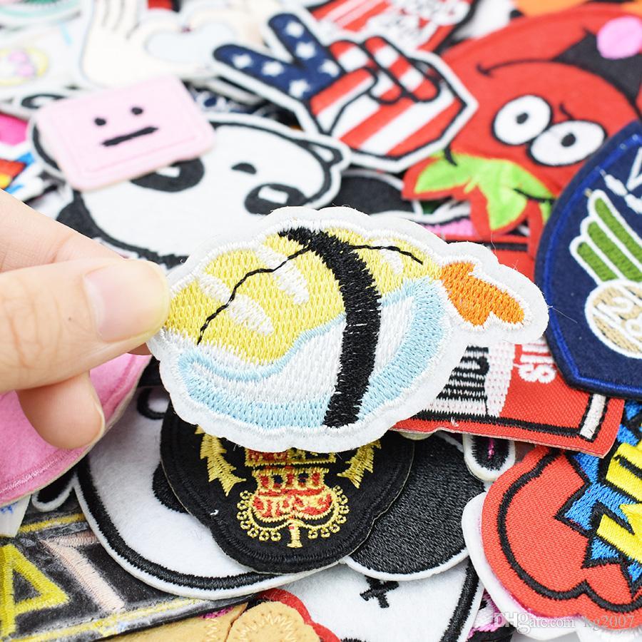 Patch fai da te abbigliamento ferro ricamato patch applique ferro su patch adesivi cucire adesivi distintivo sacchetto di vestiti 20 pezzi
