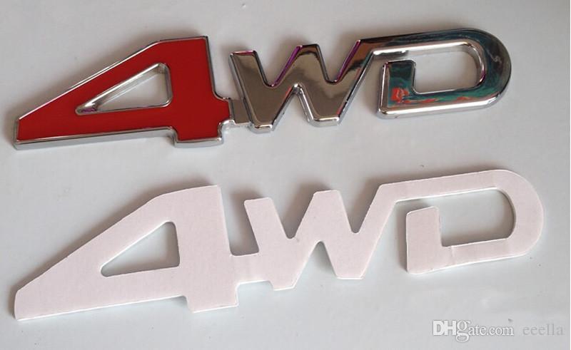 3D ABS автомобиля хром наклейки 4X4 внедорожник смешно DIY 4WD эмблема значок наклейки 4WD наклейка аксессуары спорт наклейки для Toyota NISSAN Ford VW