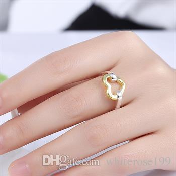Оптовая торговля-розничная низкая цена Рождественский подарок, бесплатная доставка, новый 925 серебряное кольцо способа yR019