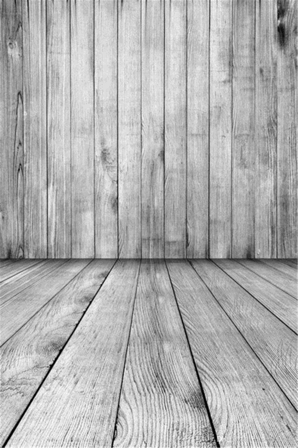 2018 Light Grey Photography Backdrop Wood Wall Floor
