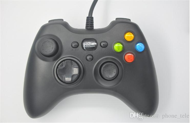Controlador Xbox 360 Gamepad USB con cable Joypad XBOXJoystick Controladores de juegos negros para PC portátil