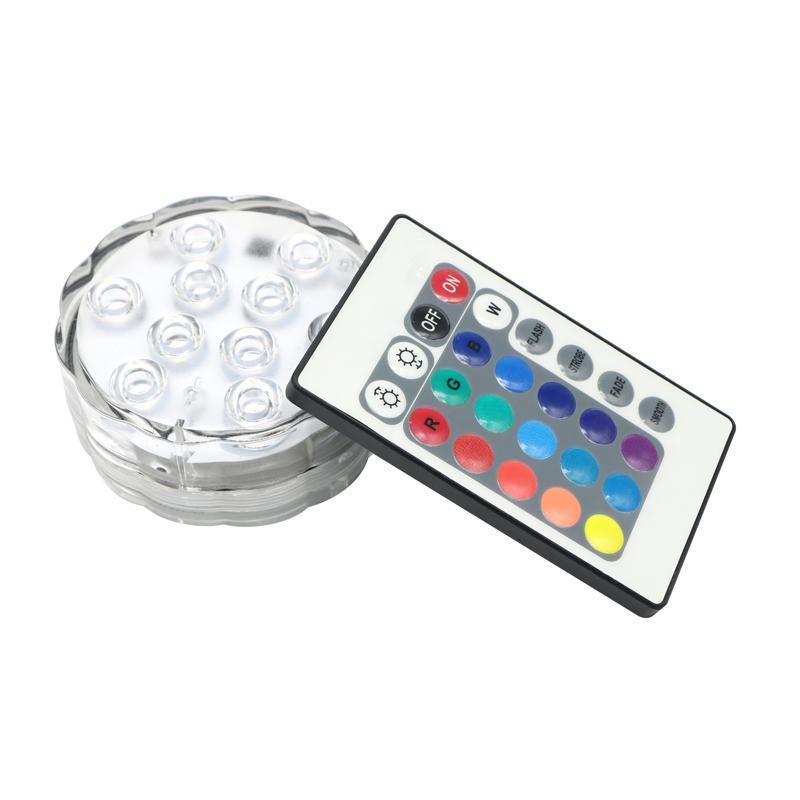 / Multicolor RGB-LED-Unterwasser-Wasserdichtes BlumenVase Base LED-Licht für Hochzeit Eventdekoration