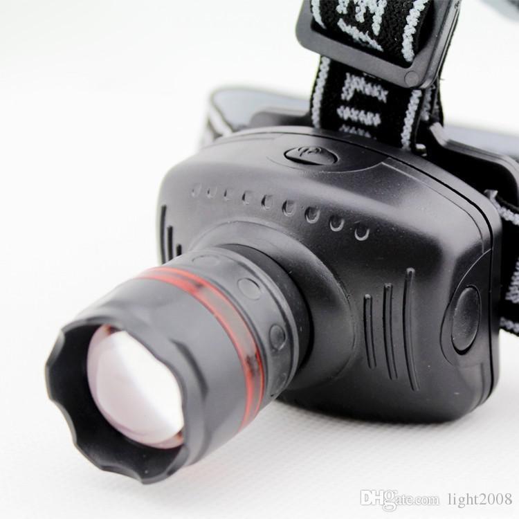 Nouvelle lampe frontale Q5 de haute qualité Linternas frontale leur principal zoom 3 modèle lampe étanche pêche monter une lampe frontale lampe de poche