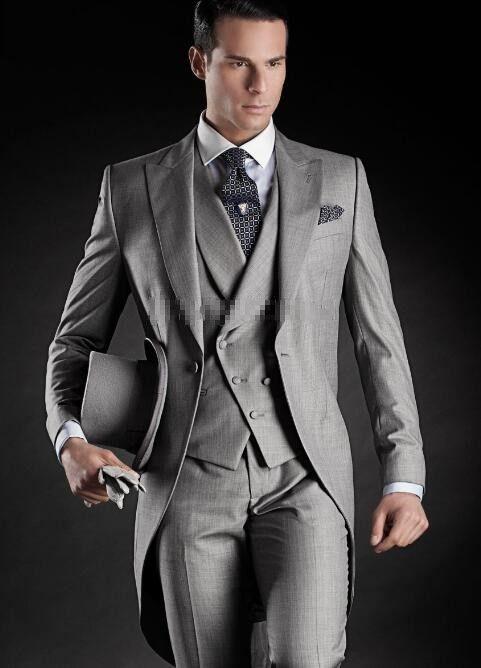 New arrival men suits 11 style groom tuxedos groomsman suits peak lapel custom made men's wedding suits tailcoatjacket+vest+pants