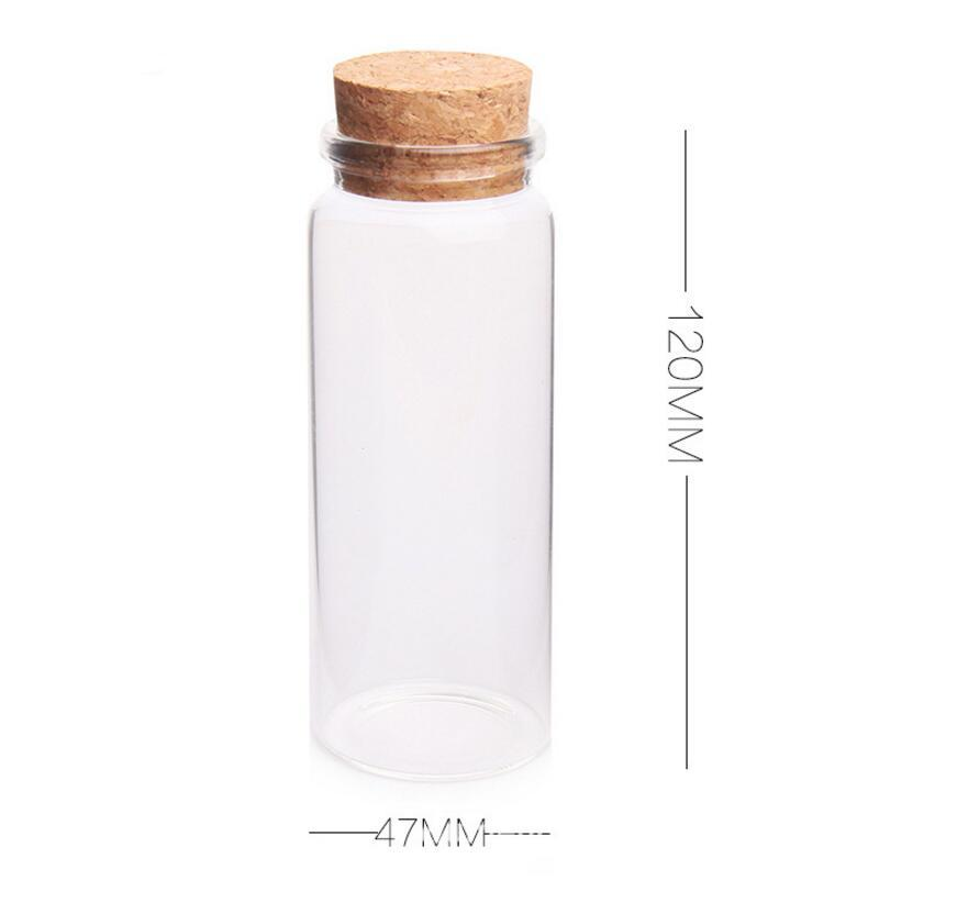 a7a94eedee34 Wholesale 100pcs 150ml Glass Bottles with Cork Crafts Bottles Jars 150cc  Empty Jars Containers Bottles
