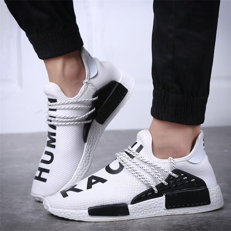553032c46 2017 Wholesale Human Race Pharrell Williams X NMD Breathable Casual Shoes  Discount Cheap Top Men Women Trainer Sneaker 36 45 Most Comfortable Shoes  High Top ...