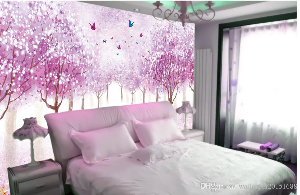 Carta da parati 3d camera personalizzata carta da parati pareti Fiori romantico nostalgico sfondo muro 3d murales carta da parati soggiorno