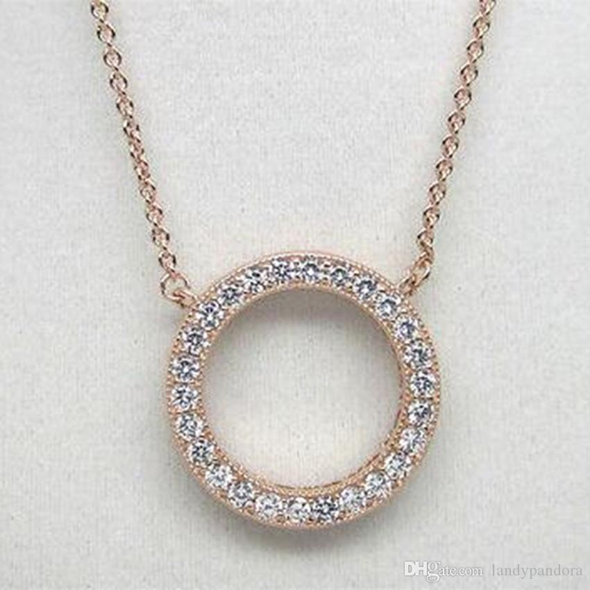 Wholesale Rose Gold Plated Chain Hearts Of P Drop Pendant Necklace With  Clear Cz Fits Pandora Style Jewelry Charms And Beads Red Pendant Necklace  Custom ...