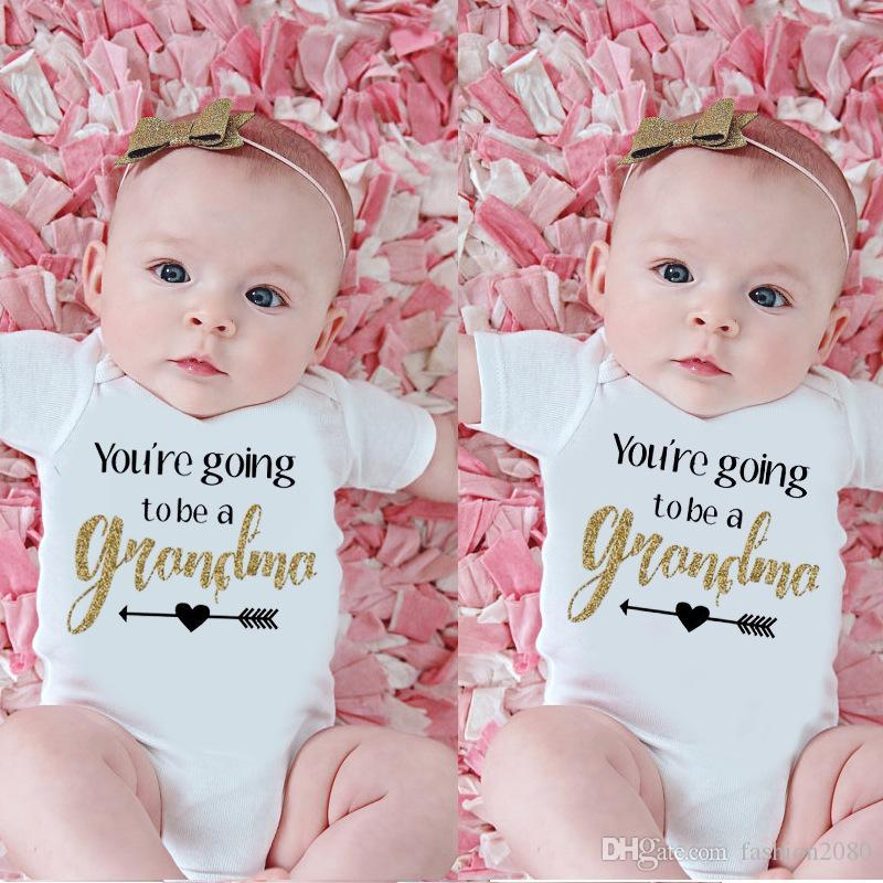 f5e37661dd88 YOU ARE GOING TO BE A GRANDMA Newborn Baby Bodysuit Cotton Infant ...