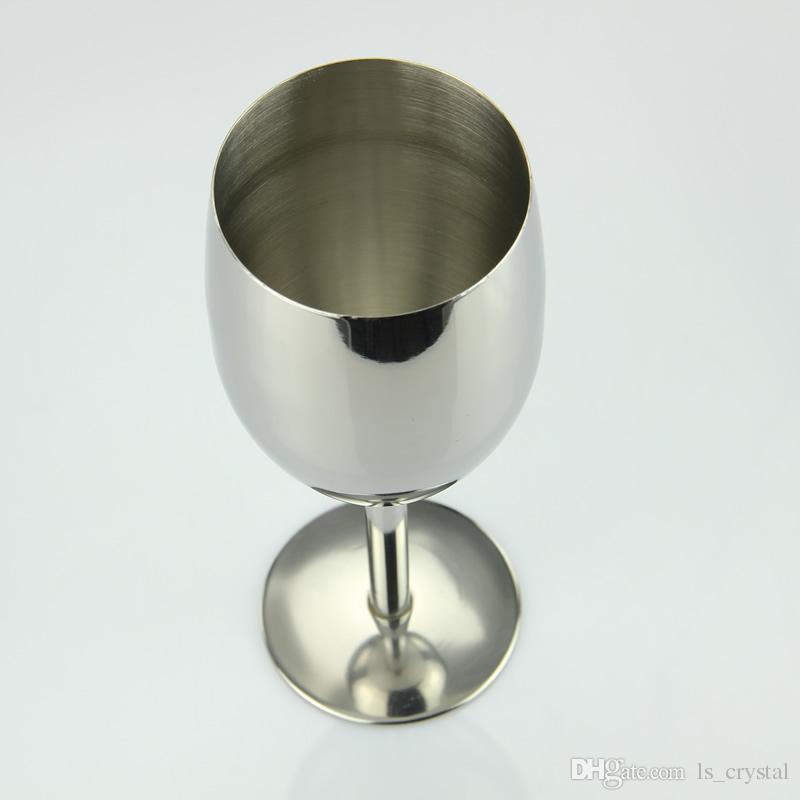 Bicchiere da vino in acciaio inossidabile da 6 once e 8 once Bicchiere da vino in acciaio inox infrangibile senza BPA Sicuro uso quotidiano formale all'aperto DEC253