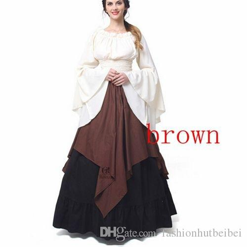 6765e18c0ddf Wholesale Plus Size Womens Renaissance Medieval Costume Dress Gothic  Victorian Fancy Evening Dresses Big Size Women s Party Dresses Online with   33.54 Piece ...
