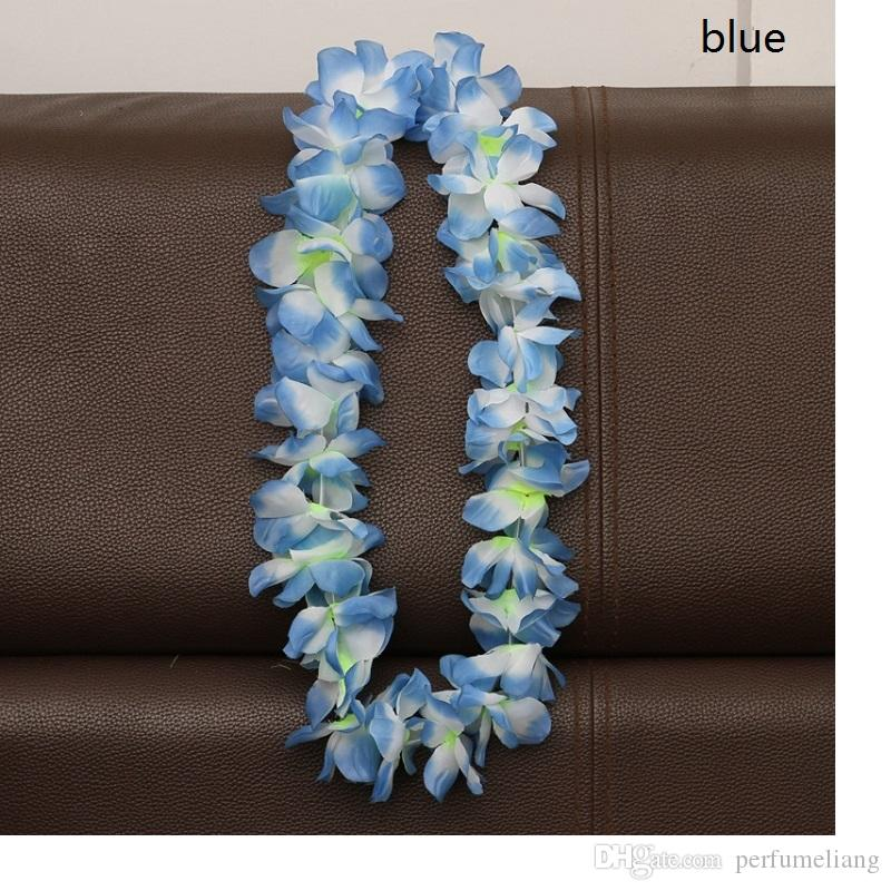 Artificial Flowers Wreath Party Decoration Hawaiian Flower Leis Wedding Birthday Christmas Supplies Garland Flower Necklace WA1720