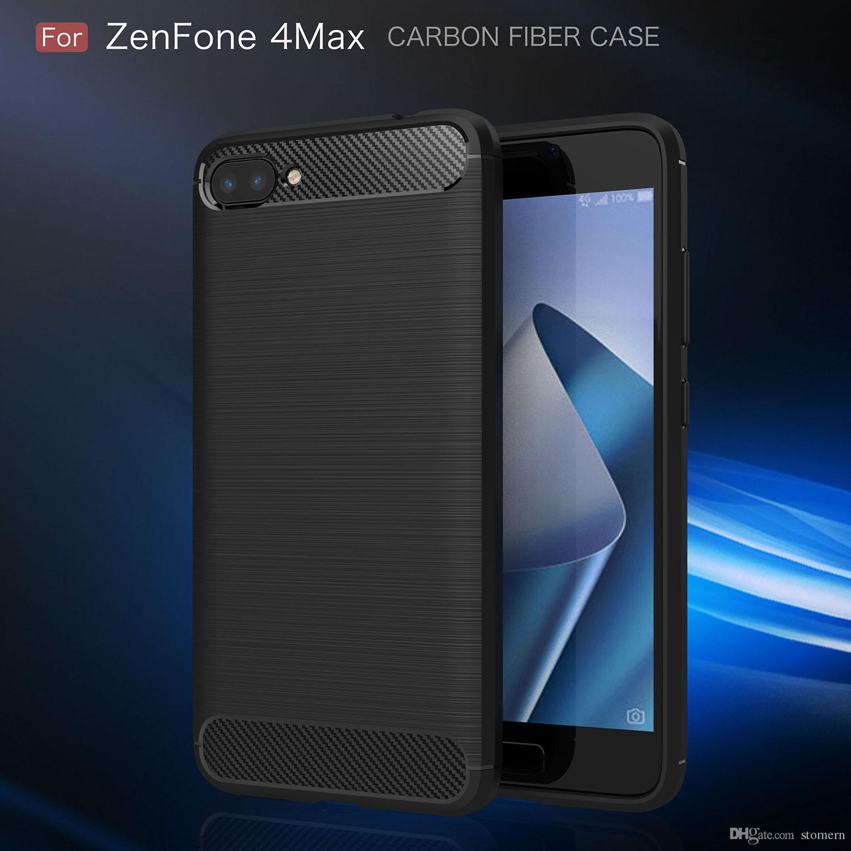 new concept 82ebc 74f84 Carbon Fiber Case For ASUS Zenfone 4 Max Plus ZC554KL Selfie Pro ZD552KL 4V  V520KL ZE554KL ZS551KL ZC520KL ZD553KL Rugged Armor Cover Shell
