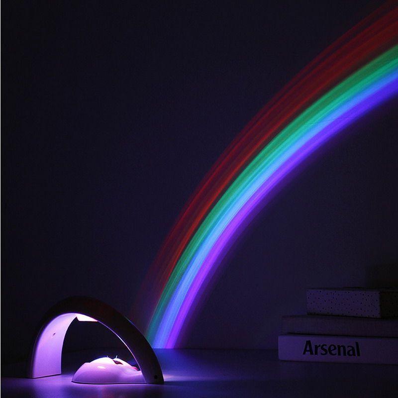 Led Rainbow Projector Light Children Kids Baby Sleeping Romantic Projection Lamp Night Light Atmosphere Lamps Bedroom ZJ0021