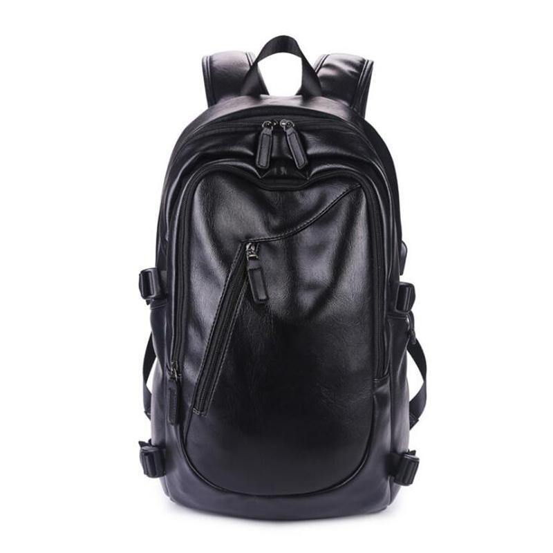 Erkekler kadınlar için PU seyahat sırt çantası rahat moda 14 inç dizüstü sırt çantaları büyük boy gelgit Bilgisayar okul Sırt Çantaları ücretsiz kargo