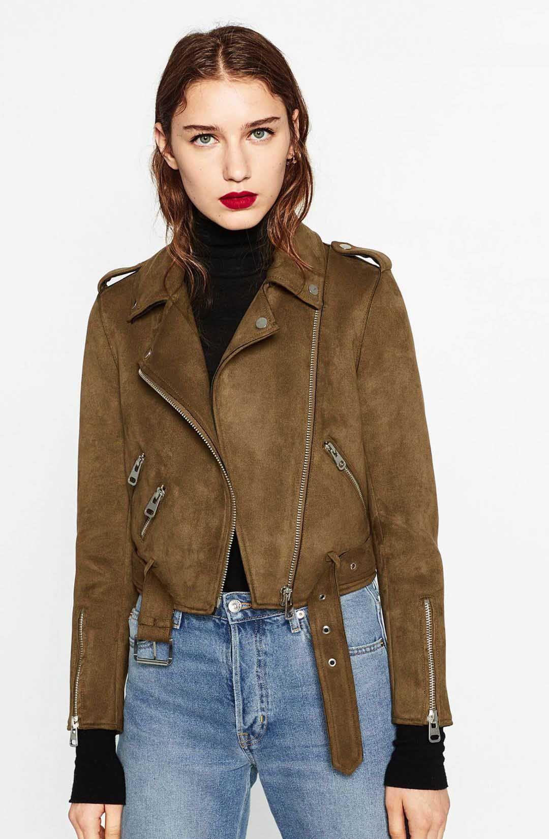 Chaqueta de bombardero de gamuza gruesa de invierno para mujer 2016 Otoño insignia biker chaqueta básica abrigo Moda cálida manga larga ropa corta