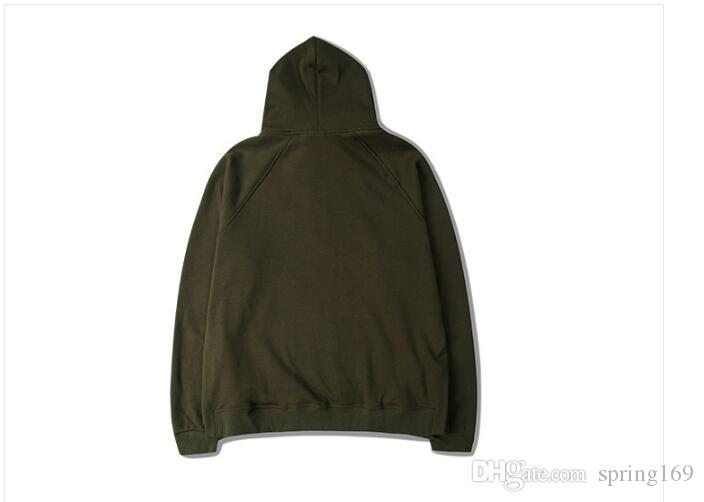 Hiphop Hommes Hoodie Justin Bieber Zip Sweat à capuche Kanye ASAP Style Hoodies Side Split Streetwear