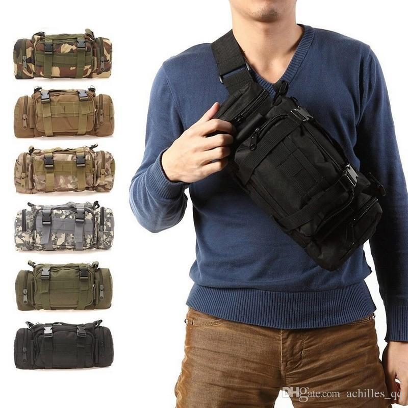485b3458ca23 5L Waterproof Military Tactical Waist Bag Outdoor Pack Oxford Molle Camping  Pouch Wallet Backpack Waist Bags mochila militar