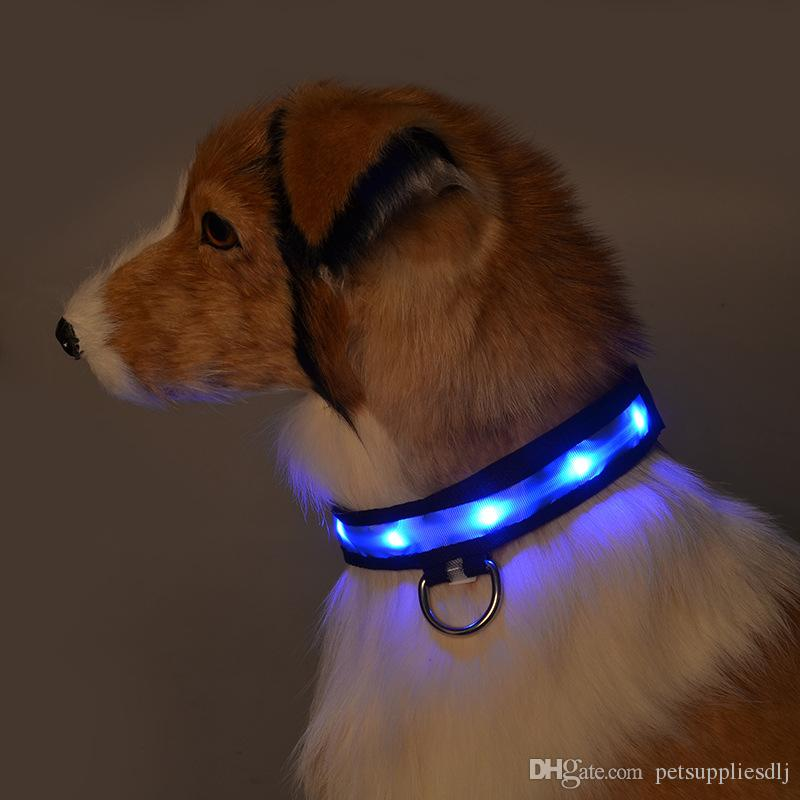 G05 New design Pet Led Collar Nylon luminous Puppy Small dogs Cats collar Light Safety Traction for Chihuahua