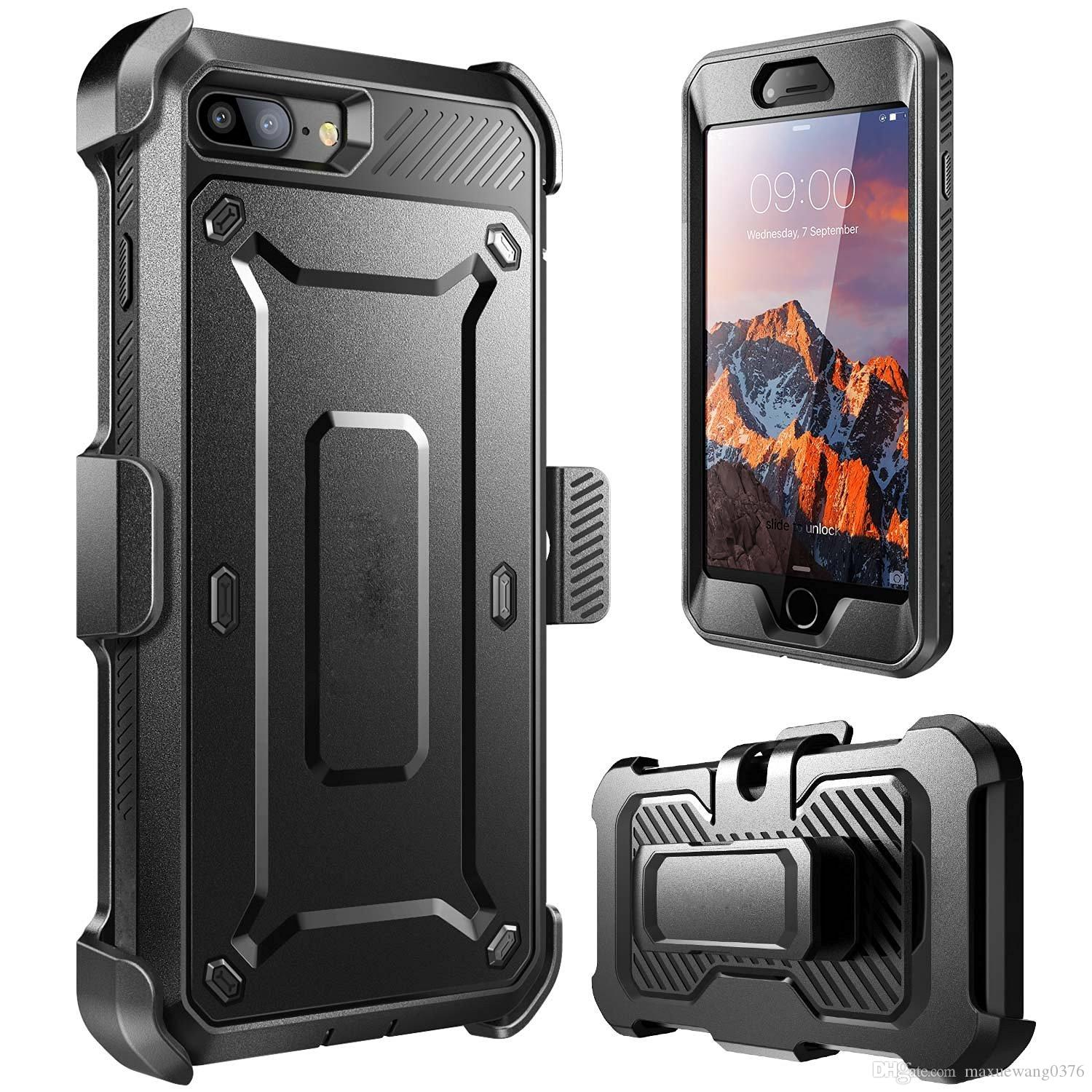 low priced f499d d199f Luxury Armor Defender Hybrid Heavy Duty ShockProof With Clip Built-in  Screen Protector Phone Case Cover For iphone 7 7 Plus 6/6s Plus 5s