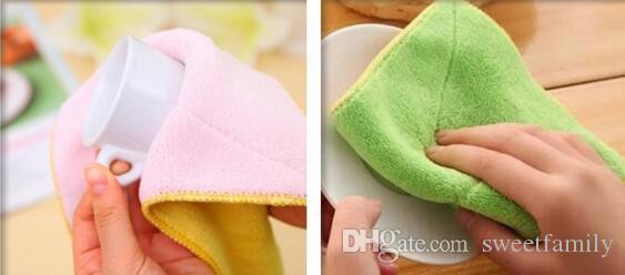 300 قطع عالية الكفاءة مكافحة الشحوم اللون صحن القماش ستوكات غسل منشفة ماجيك تنظيف المطبخ مسح الخرق بالجملة