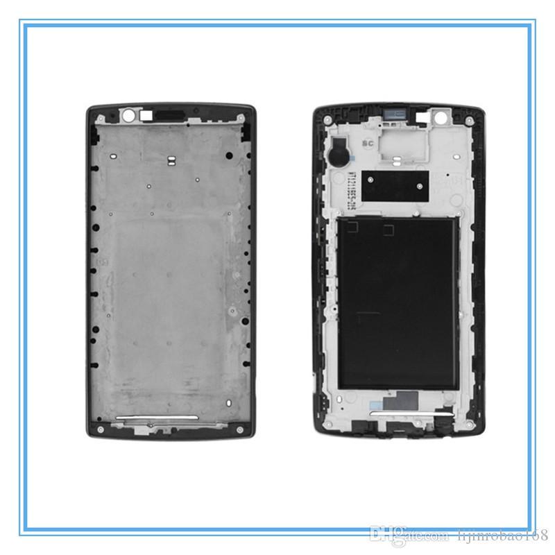 Medio original del marco de la placa frontal del bisel frontal de carcasa con Adhesivo para LG G4 H815 H818