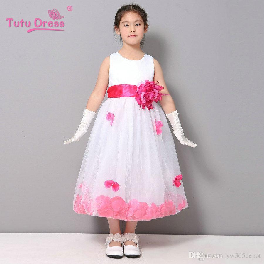 2018 2017 girls bridesmaid dress rose petal hem cute princess tutu see larger image ombrellifo Choice Image