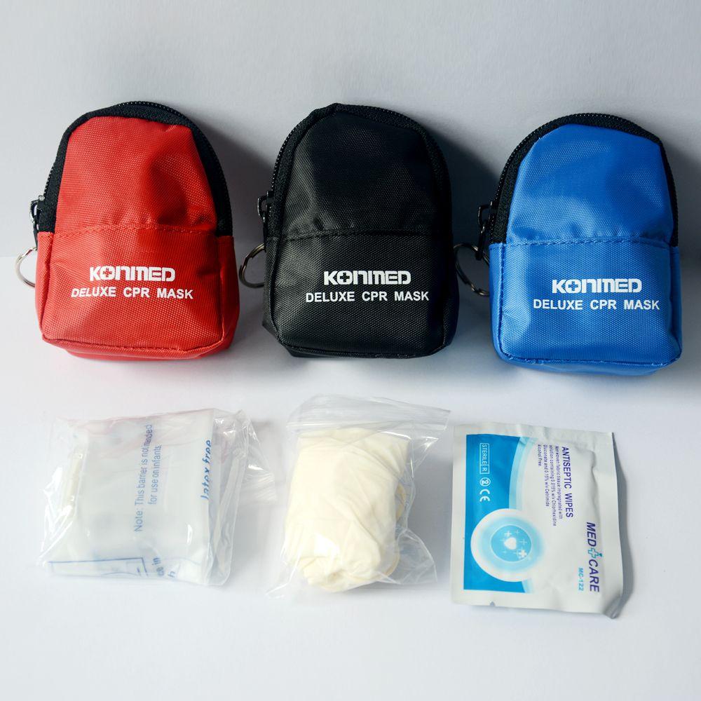 Cpr Masque Face Shield Barrier Key Chain Kit avec des gants,