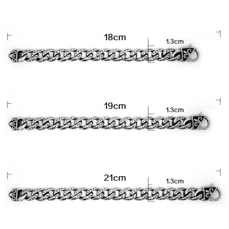 Titanium Steel Unisex Jewlery Vintage Twisted Link Chain Bracelets For Men Women Punk Bangle Silver Plated Pulsera