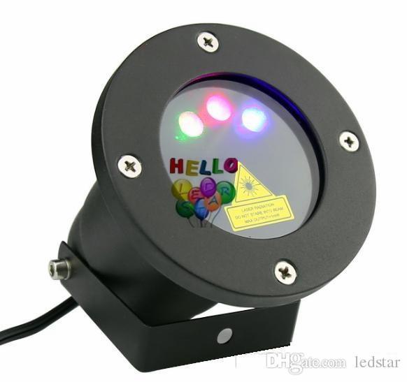 Açık LED Projektör lazer ışıkları Kırmızı + Yeşil + Mavi Firefly bahçe AC 110-240 V + uzaktan kumanda için noel lazer ışığı projektör