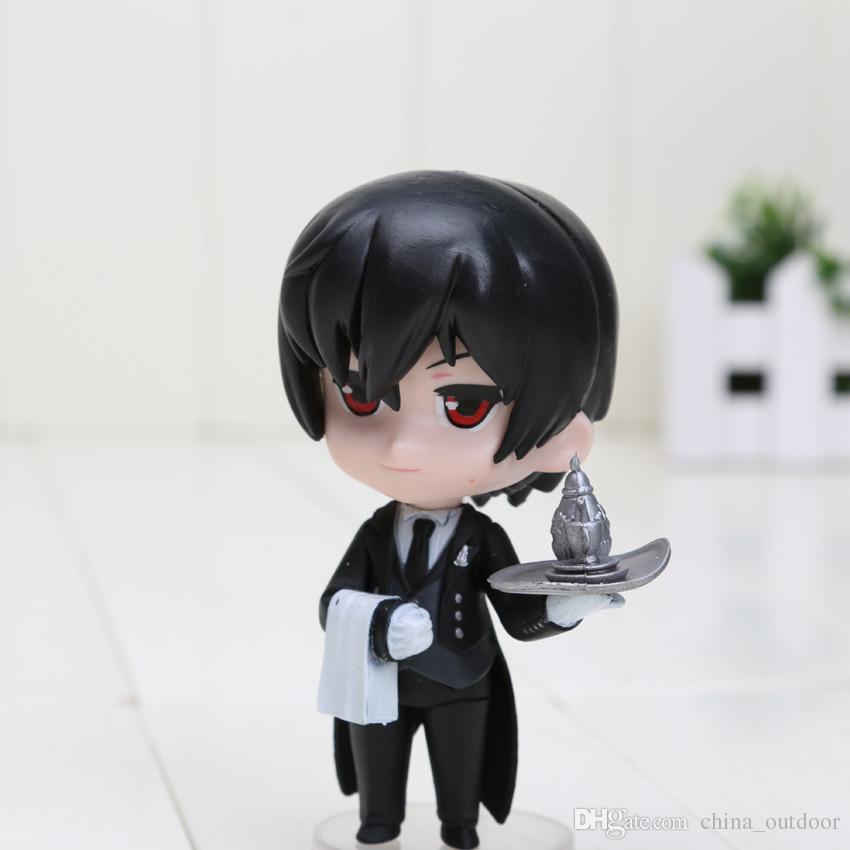 / set Anime 9CM Black Butler Kuroshitsuji Ciel Q Edition Action PVC Figure Giocattoli da collezione Giocattoli bambini