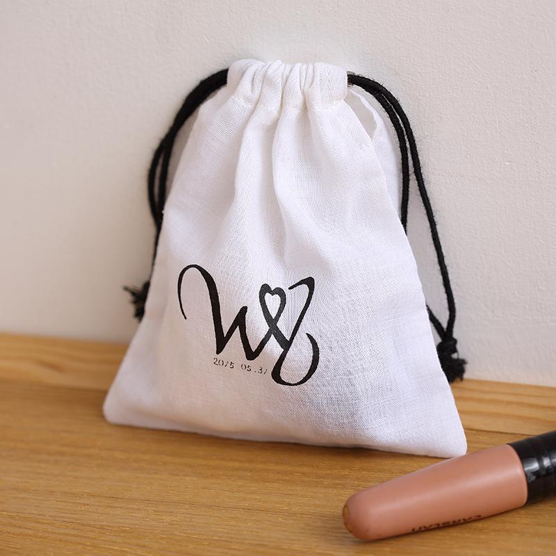 Wholesale Thin Fabric Bag Small Cotton Muslin Pouch Drawstring ...