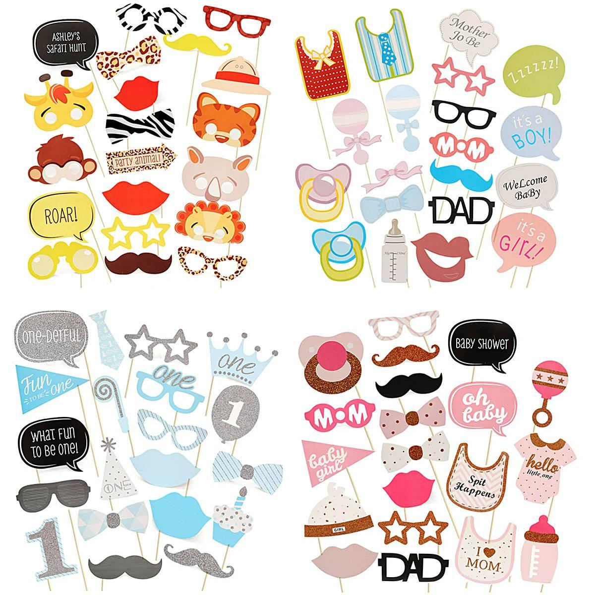 Wholesale Baby Shower Photo Booth Props Lovely Adorable Gadgets Boys
