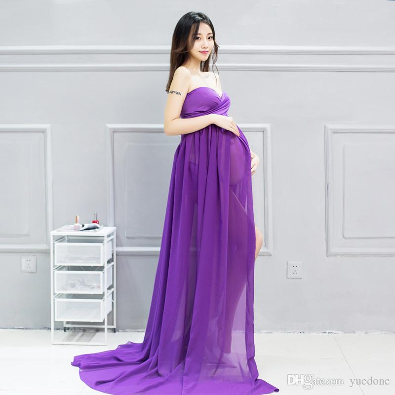 2017 Purple/Light Blue Maternity Dresses Sleeveless Photography ...