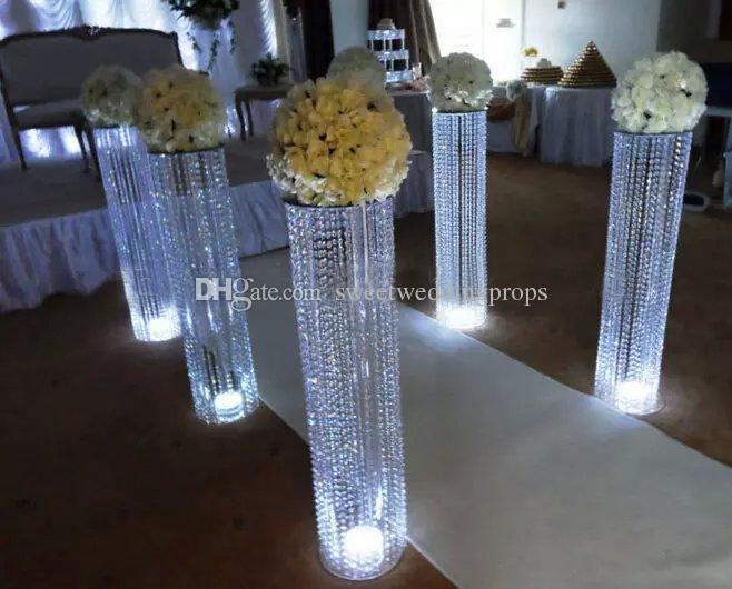 Kristall Perlen Kronleuchter ~ Großhandel hochzeit kristall säule perlen kronleuchter hochzeit