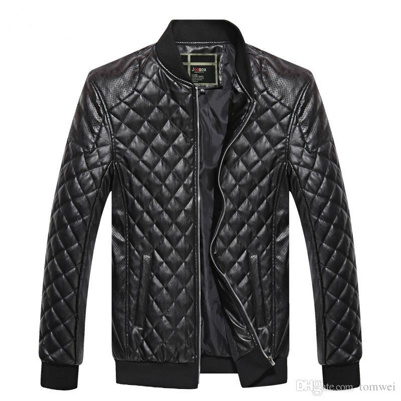 العلامة التجارية الرجال سترة بو الجلود معاطف السائقون دراجة نارية جاكيتات الخريف الربيع الملابس أبلى معطف الصبي قمم كبيرة الحجم 3xl الأسود