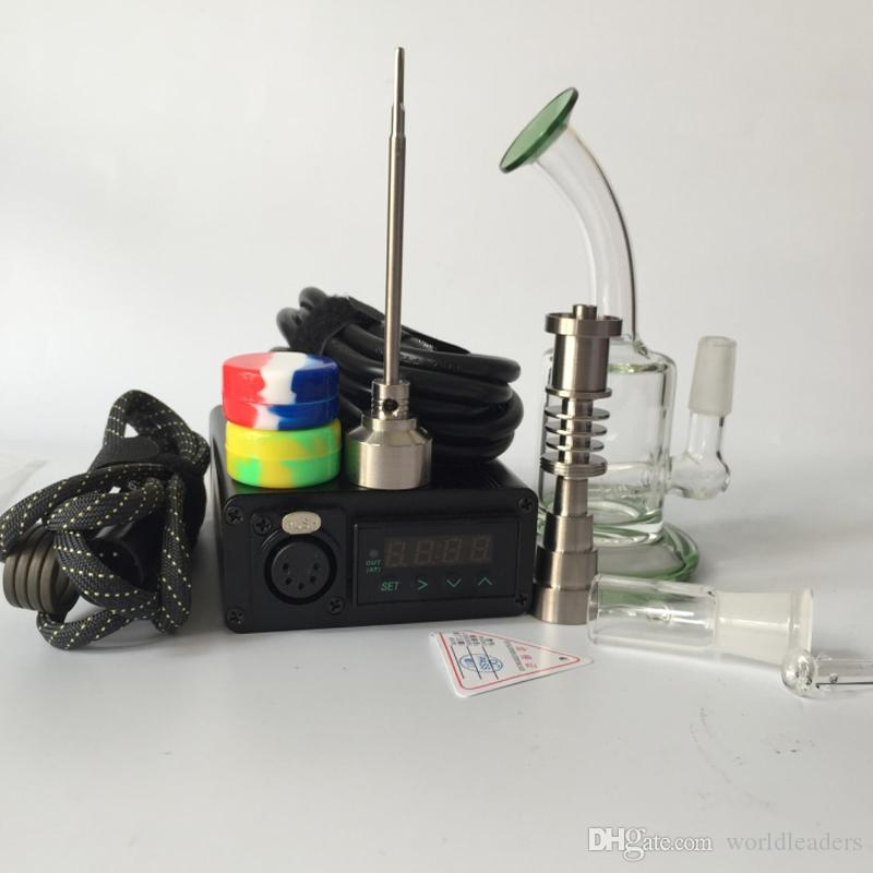 2017 Mini enail dab rig electric nail dab smoking device with Glass Bong Water Pipe Titanium Nails Heater Coils carb cap