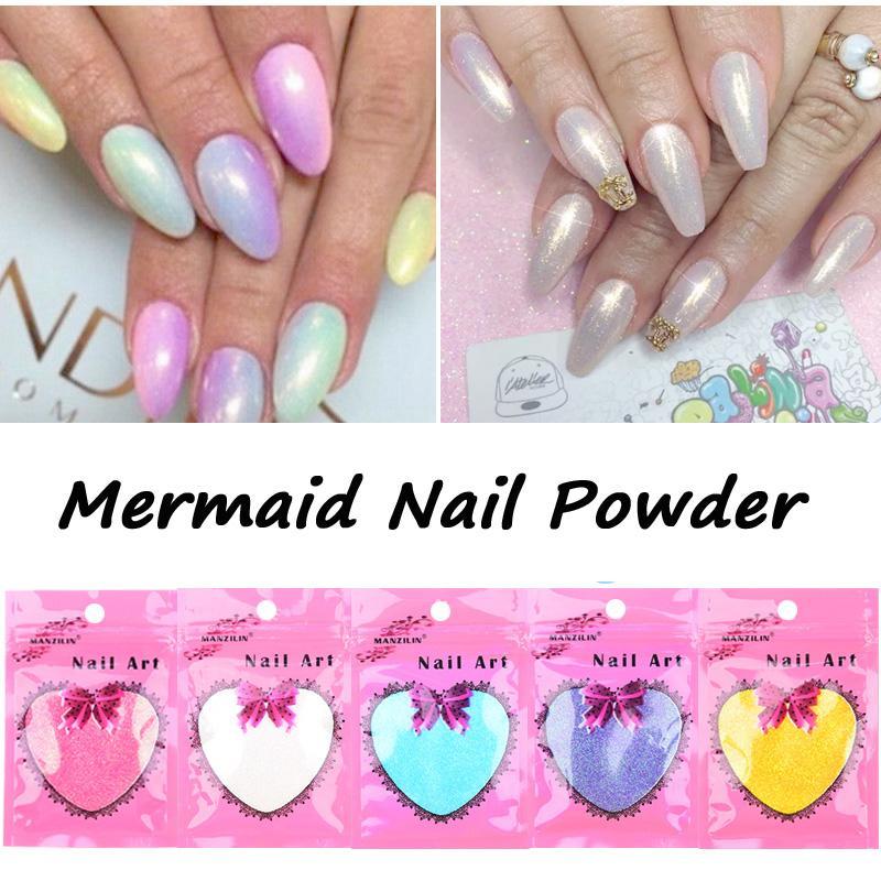 New Mermaid Effect Chrome Pigment Powder 10g / Bag Laser Silver ...