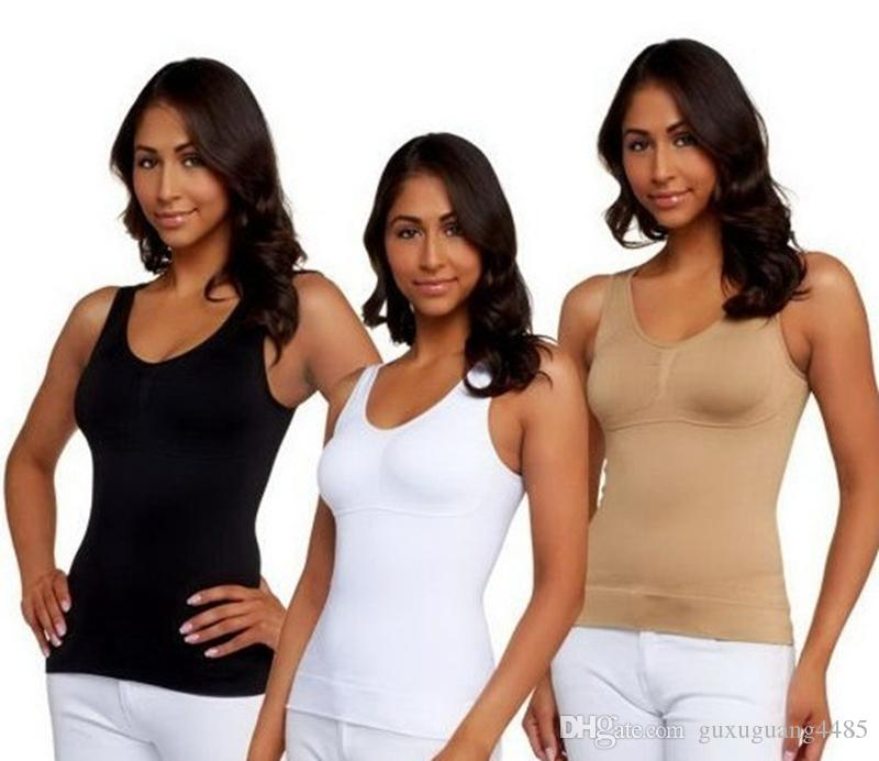671d09ddb8506 2019 2017 Slim Women Up Lift Bra Shaper Tops Body Shaping Camisole Corset  Waist Slimming Shapers Super Thin Seamless Tank Tops From Guxuguang4485