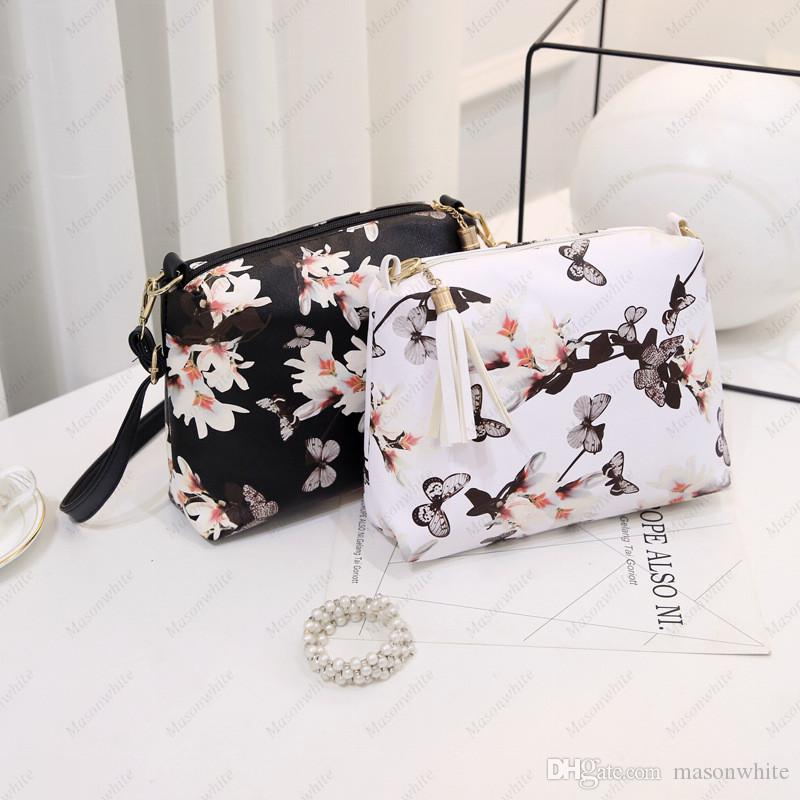 Women S Fashion Shoulder Bags Korean Style Shoulder Purse For Men Girl  Ladies Beautiful Butterfly Floral Print Leather Handbags Laptop Bags  Briefcase From ... 6e76c5e98e202