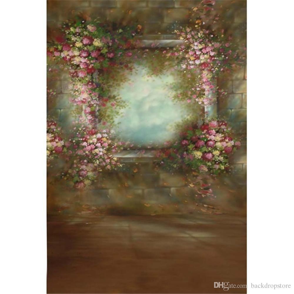 Floral Vintage Fundo Rosa Bebe
