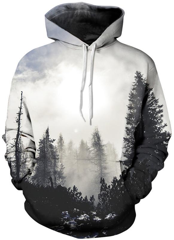 Neue weihnachten 2017 mode galaxy männer / frauen herbst herbst winter pullover hoodies sweatshirt langarm hoodies 3d drucken mit hut plus größe