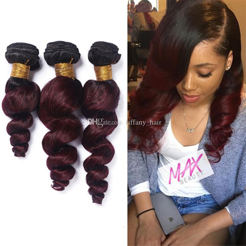 Cheap ombre 1b 99j loose wave virgin peruvian human hair cheap ombre 1b 99j loose wave virgin peruvian human hair extensions dark roots burgundy ombre hair weaves 3 bundles wine red two tone hair hair for weaving pmusecretfo Gallery