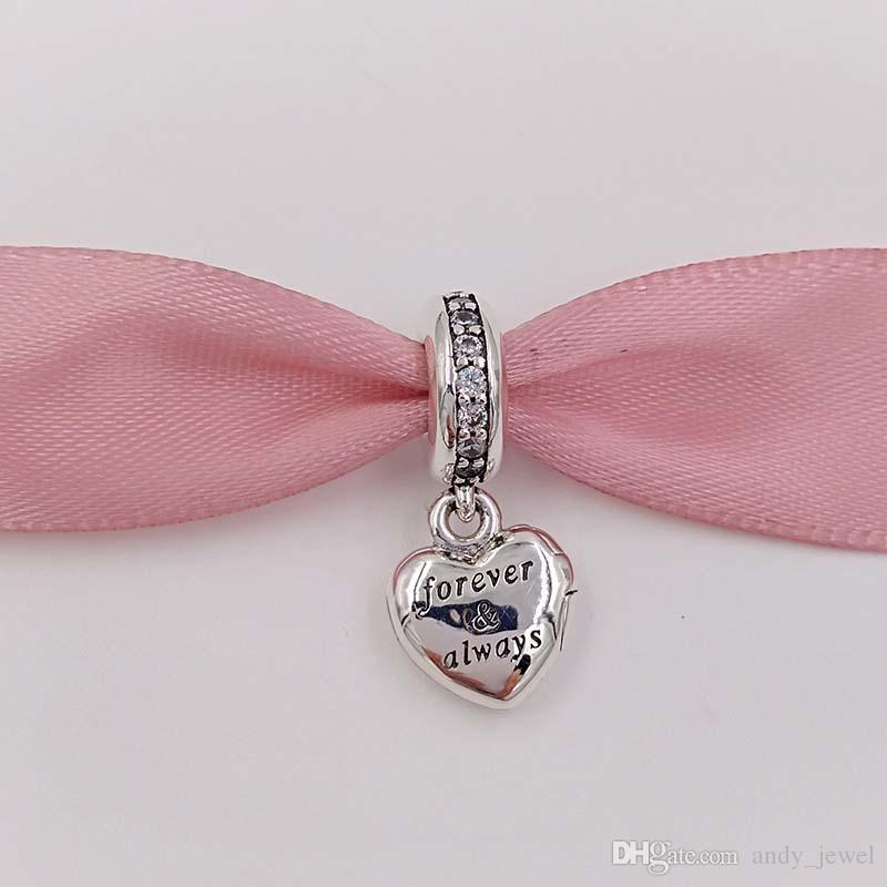 Dia dos Namorados 925 libras esterlinas grânulos de meu encanto esposa Linda único estilo europeu jóia de Pandora Pulseiras 791524CZ presente dos Valentim quentes
